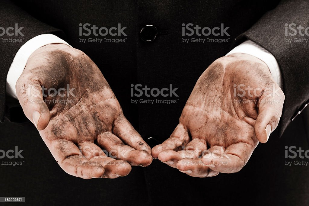 Dirty business royalty-free stock photo