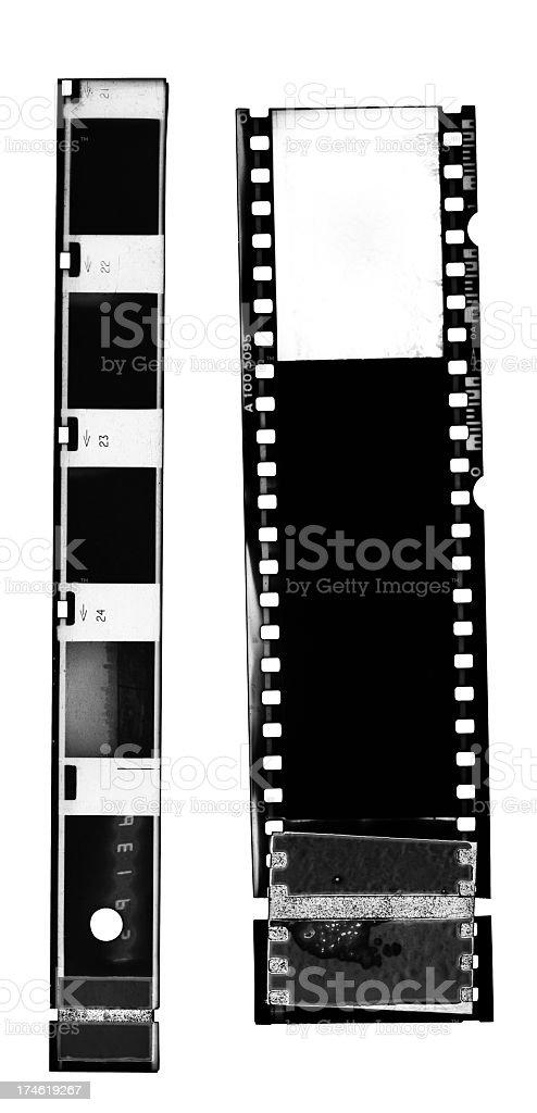 Dirty B&W Negative Films royalty-free stock photo