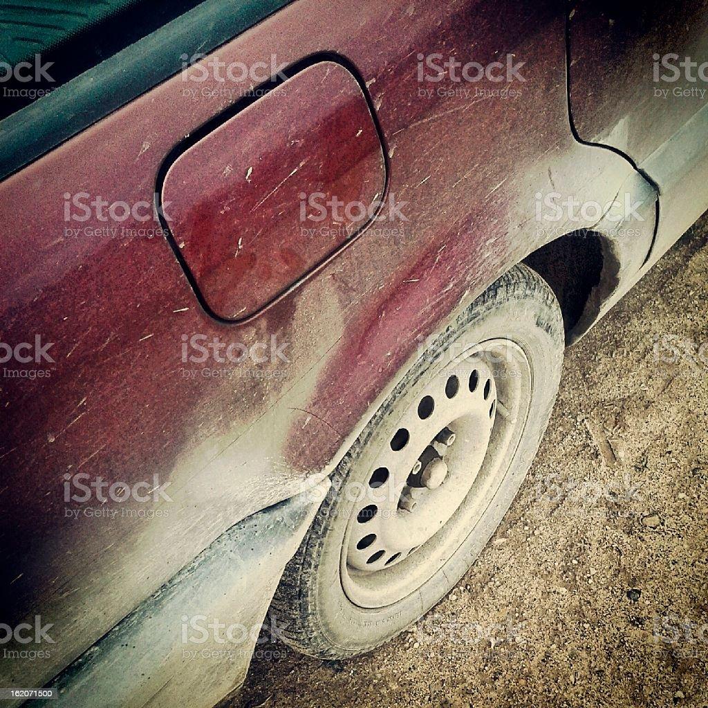 dirty car stock photo