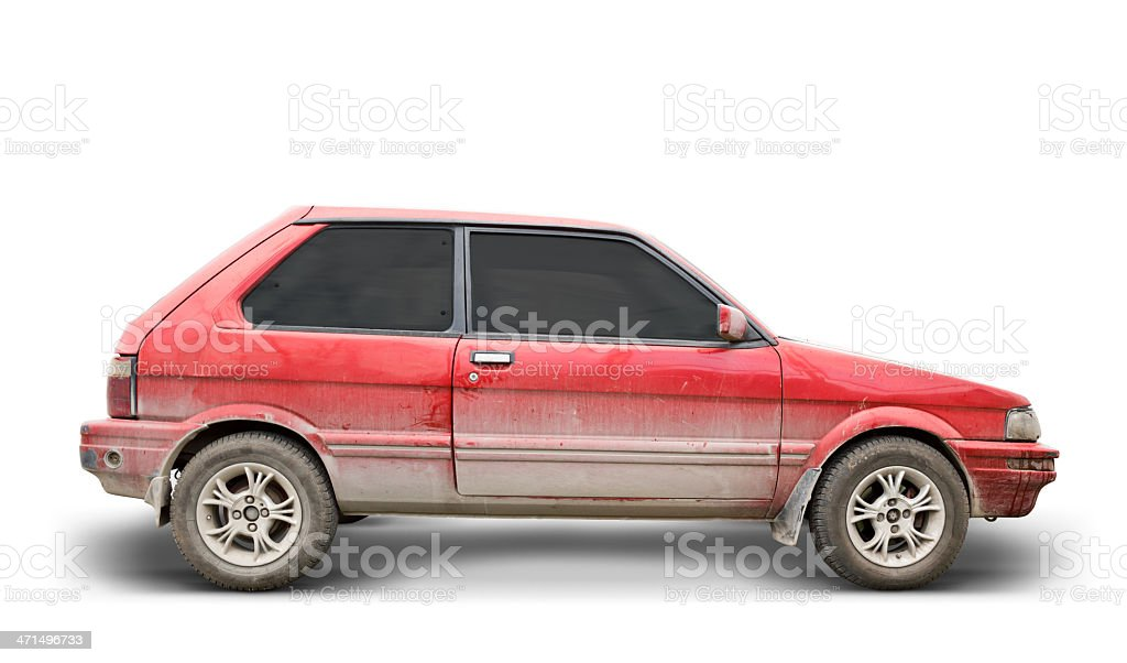Dirty Car (Clipping Path Included) stock photo