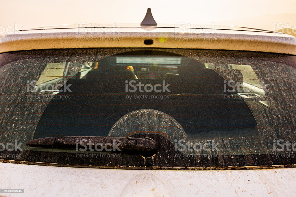 Dirty car stock photo