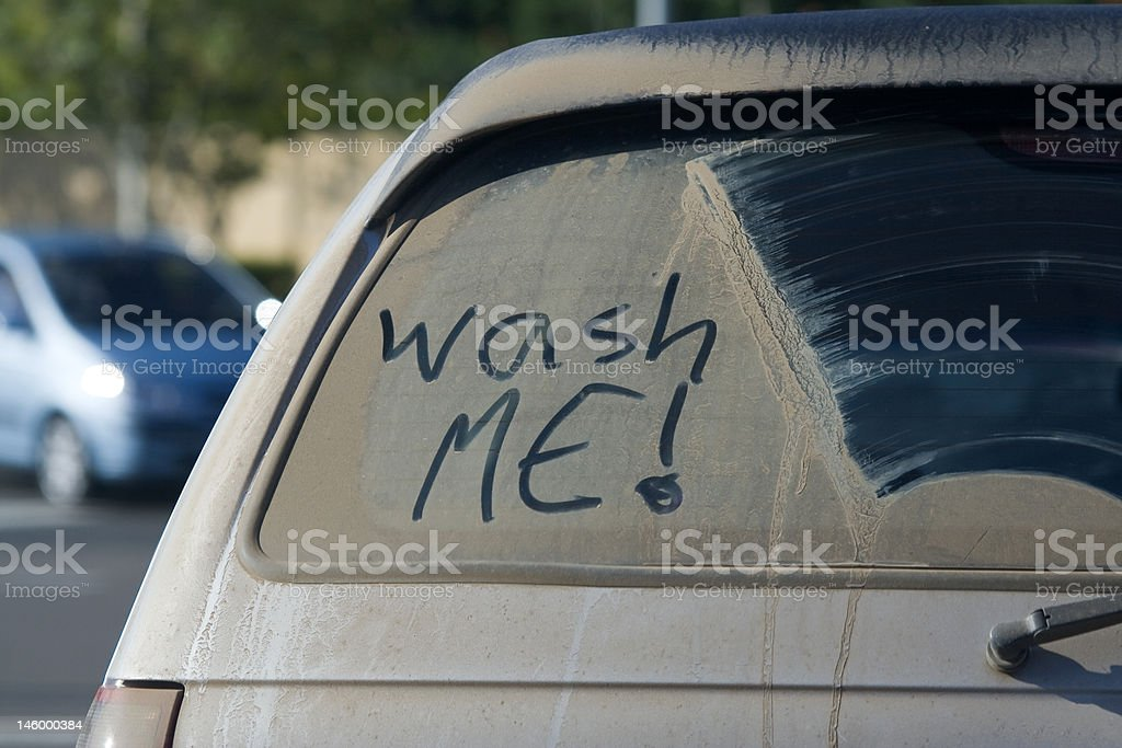 Dirty Car Window stock photo