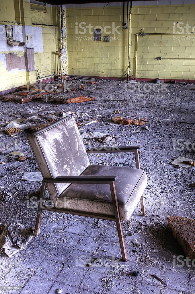 Dirty Chair stock photo