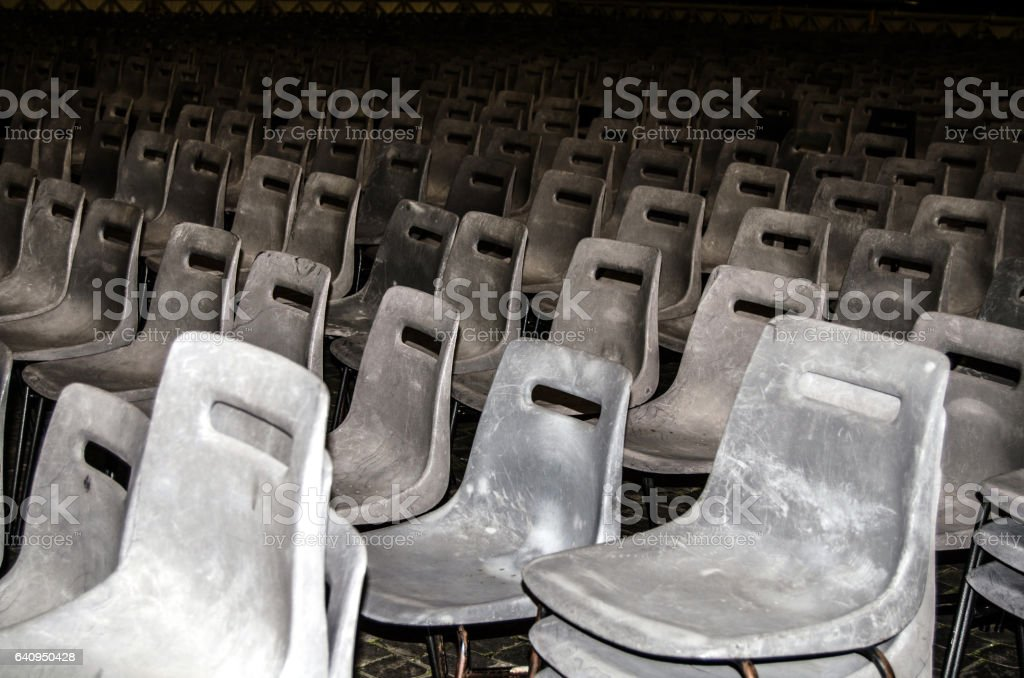 Dirty chairs stock photo