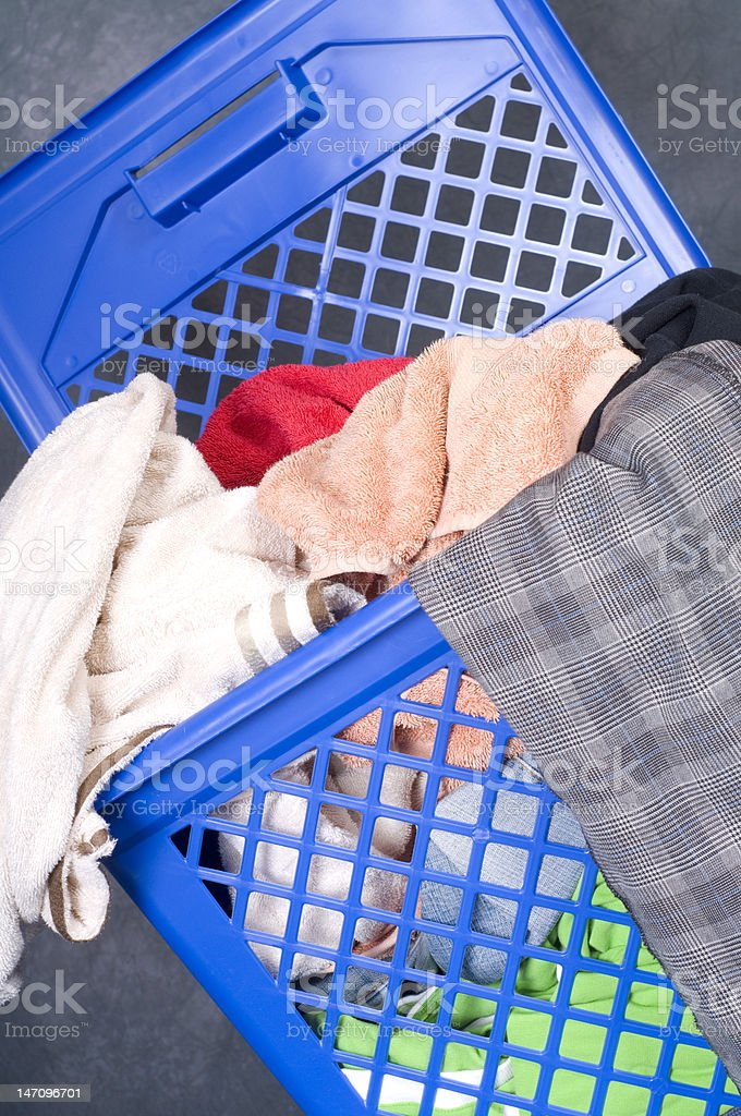 dirty clothes stock photo