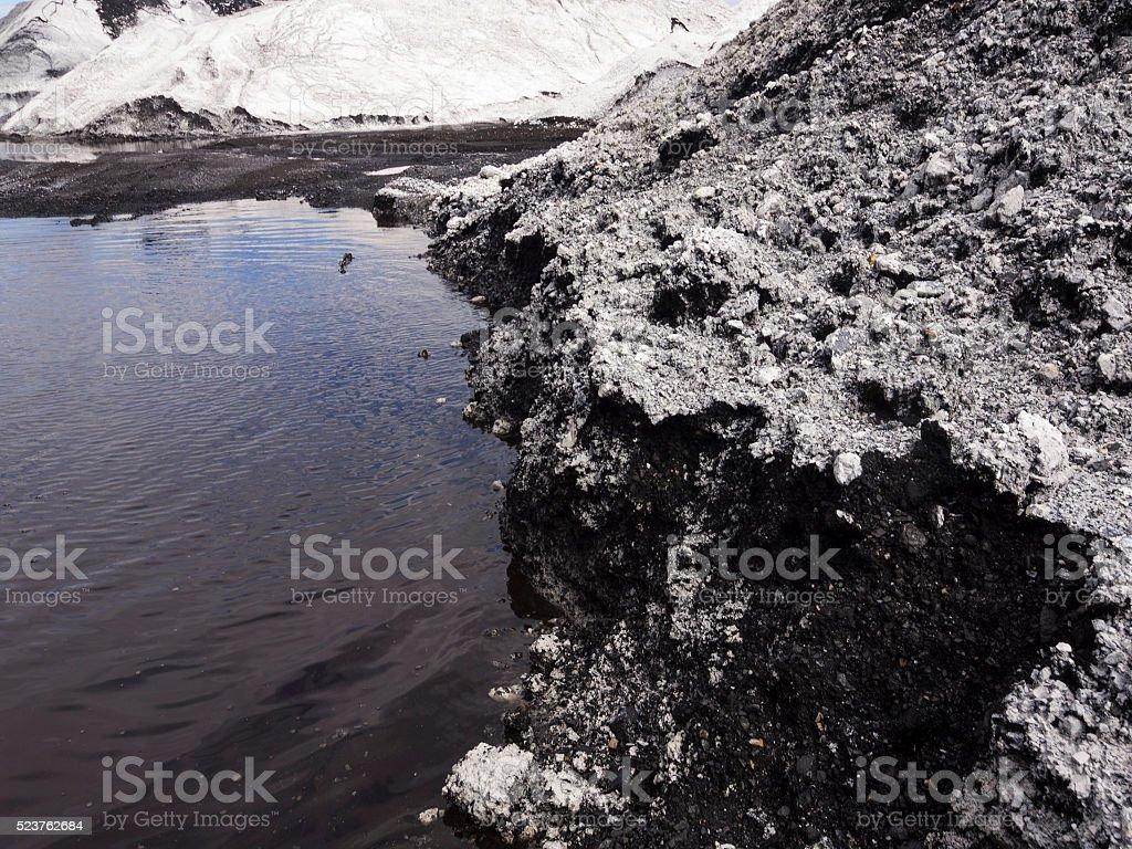 Dirty Coal Leachates stock photo