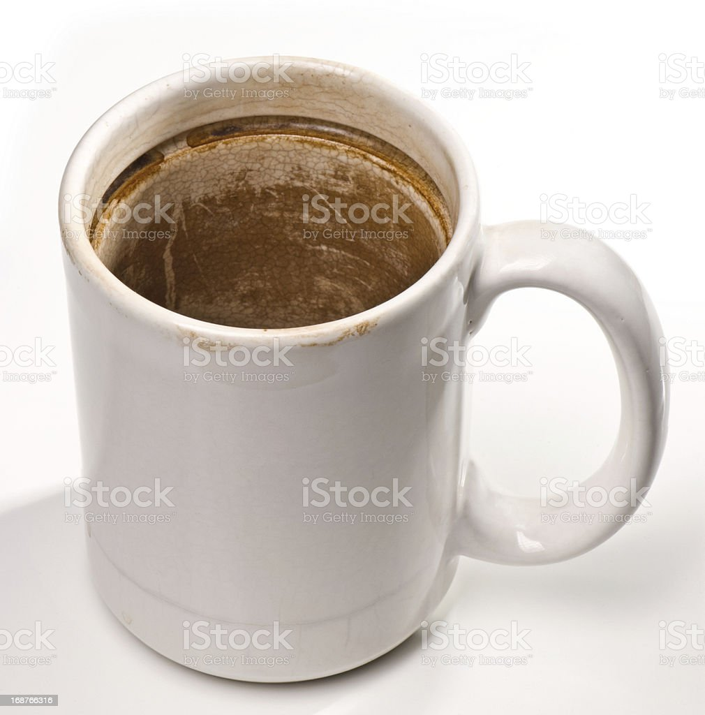 Dirty Coffee Mug stock photo