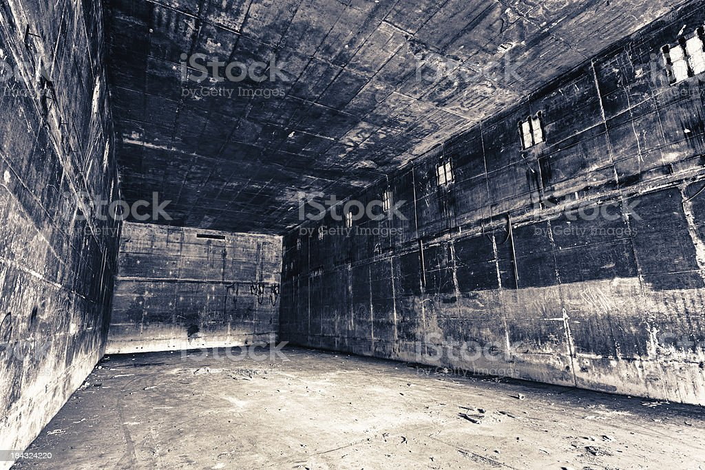 Dirty concrete hall royalty-free stock photo