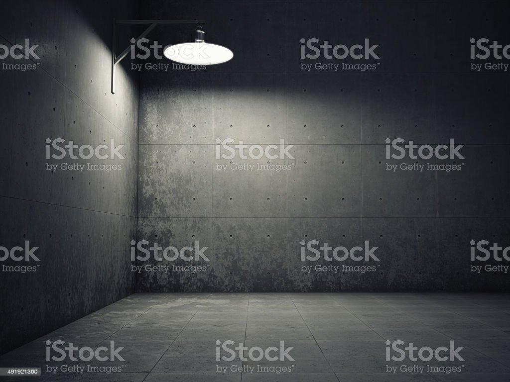 Dirty concrete wall illuminated stock photo