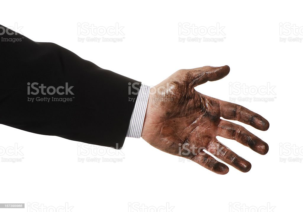 Dirty deal royalty-free stock photo