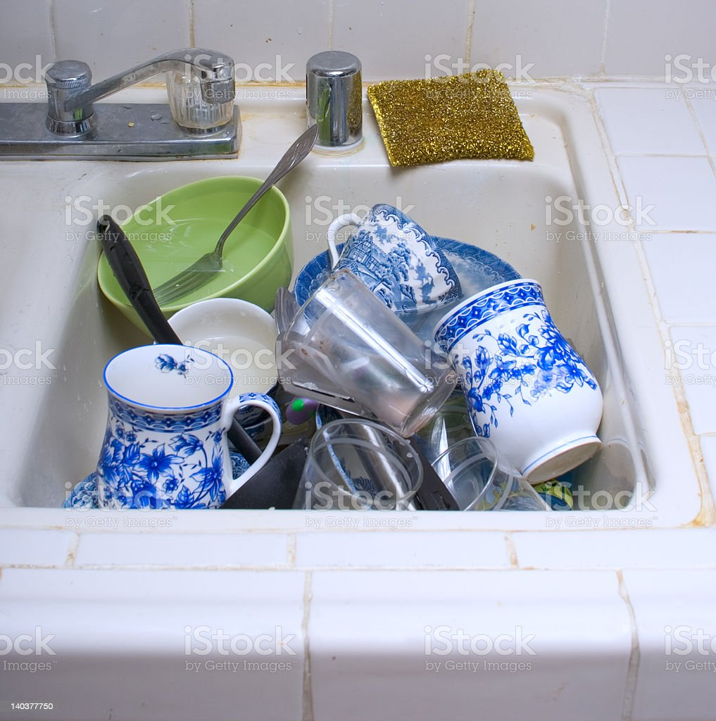 dirty dishes royalty-free stock photo