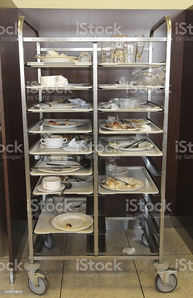 Dirty dishes. stock photo