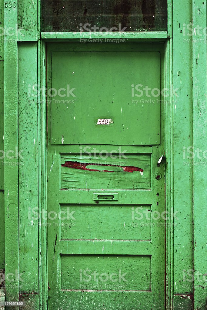 Dirty Downtown Door royalty-free stock photo