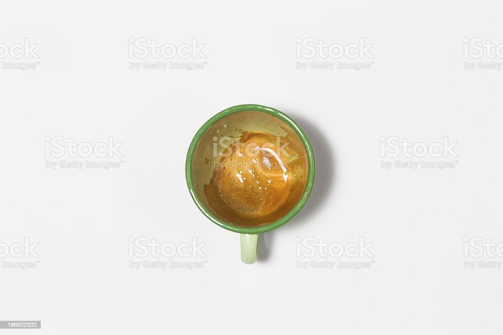 Dirty enamel mug royalty-free stock photo