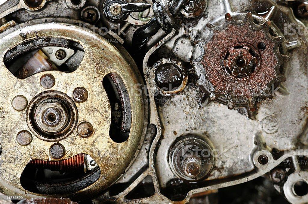 Dirty Engine stock photo