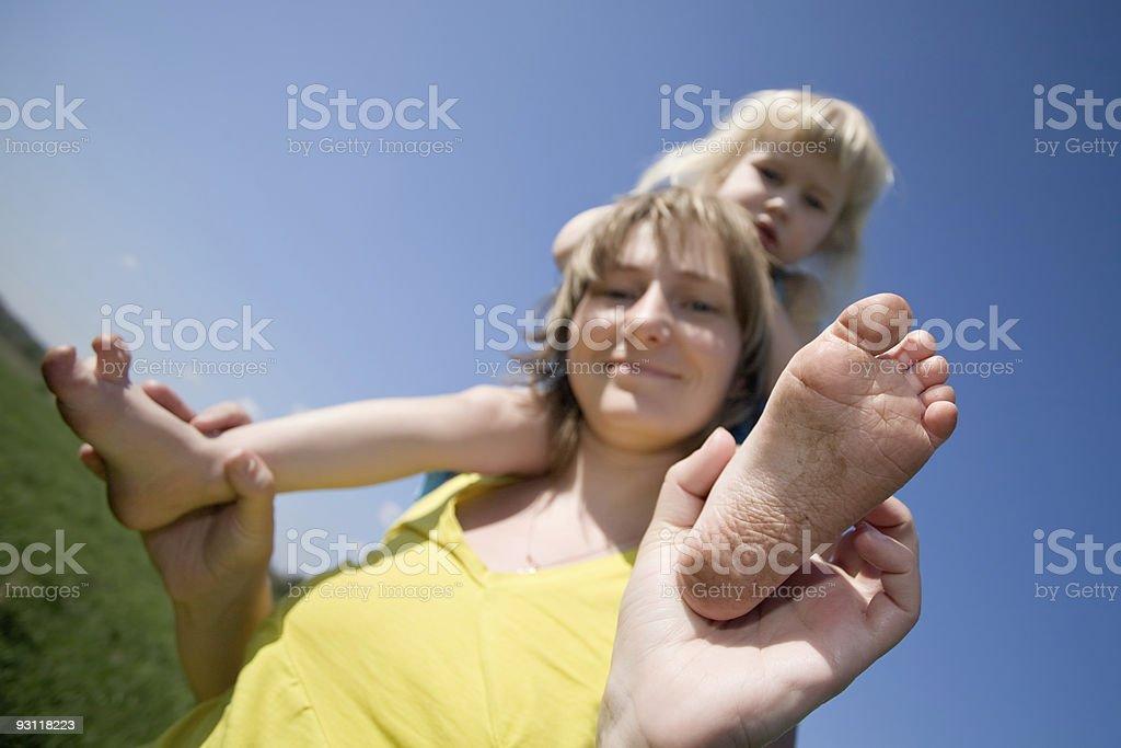 dirty feet royalty-free stock photo