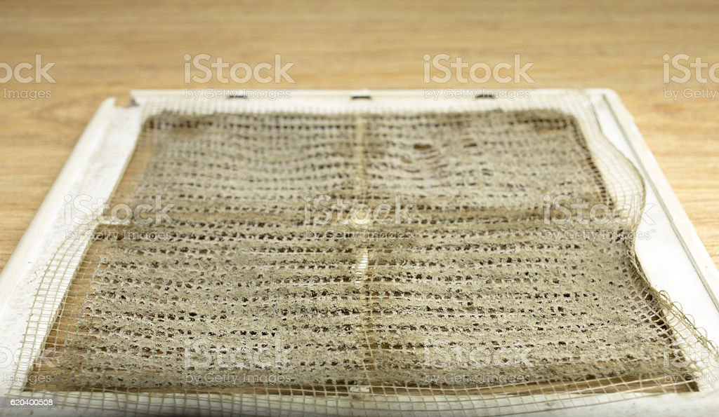 dirty filter ventilation system at home stock photo