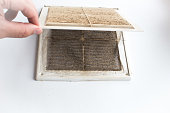 dirty filter ventilation system at home