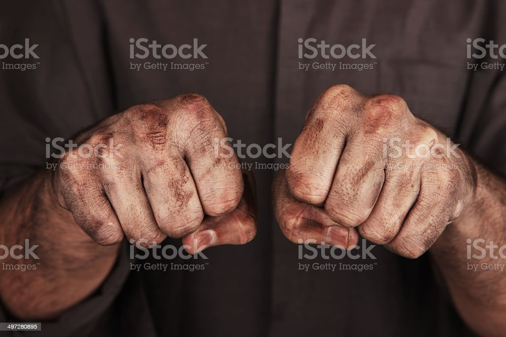 Dirty Fists stock photo