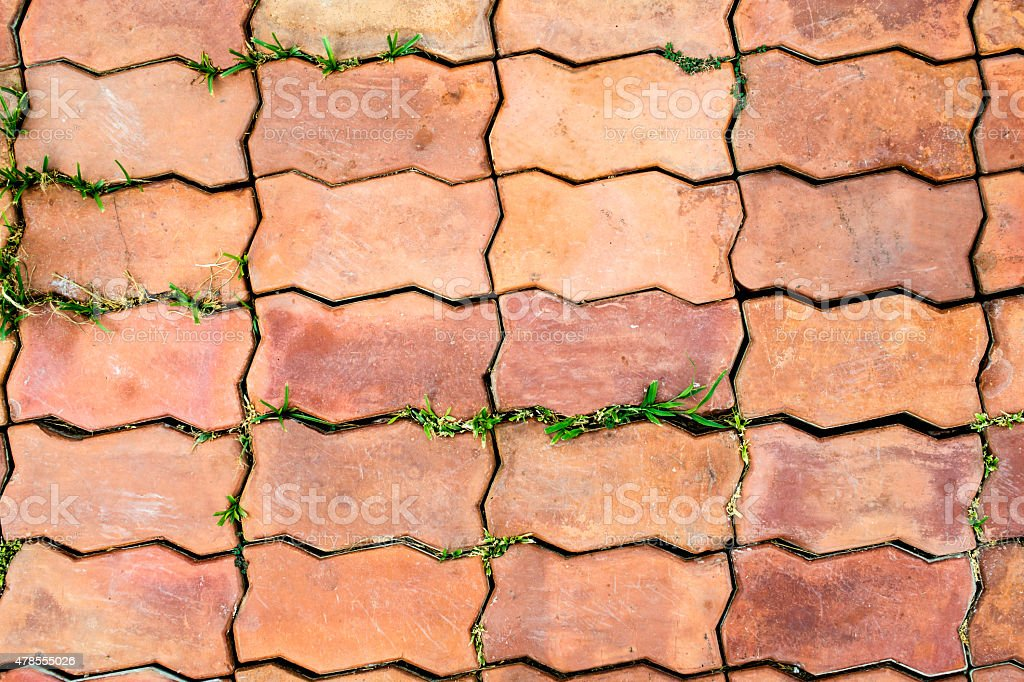 Dirty floor. Brick footpath background. royalty-free stock photo