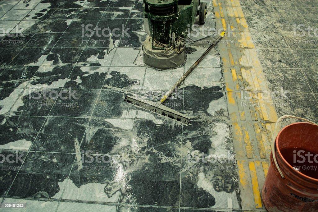 Dirty floor stock photo