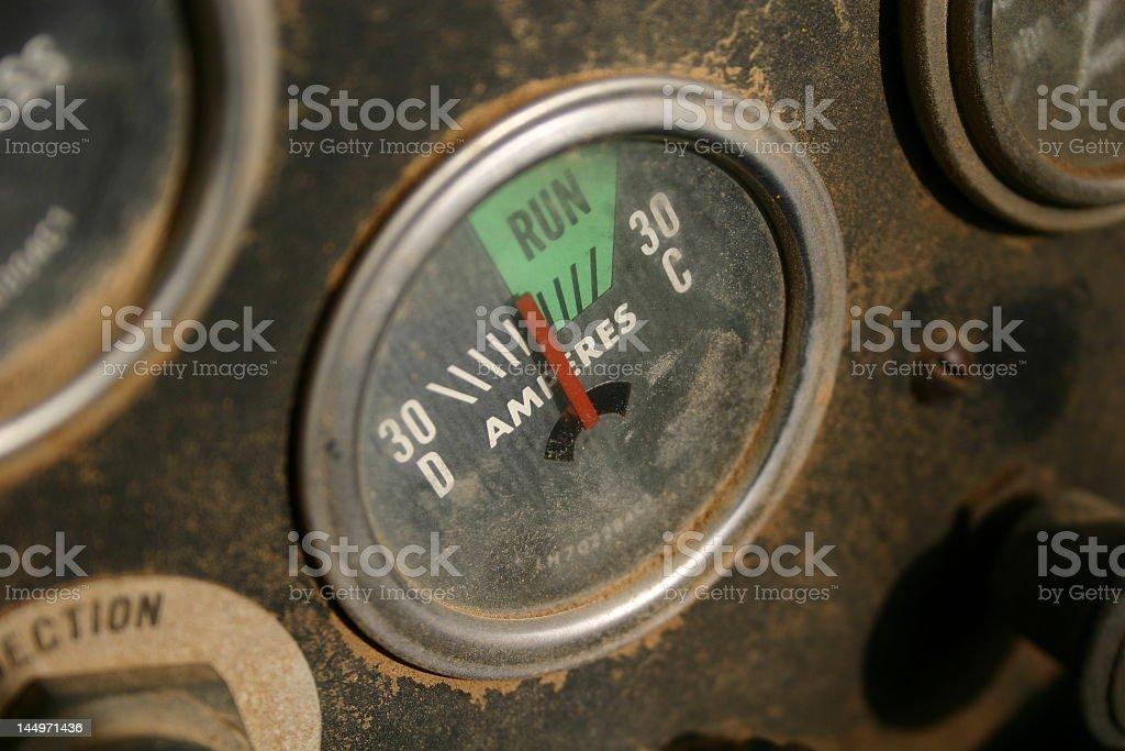 Dirty Gauge stock photo
