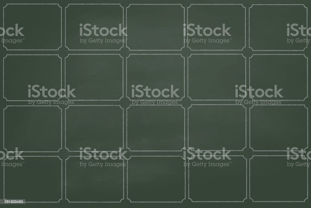 dirty green board divided into departments stock photo