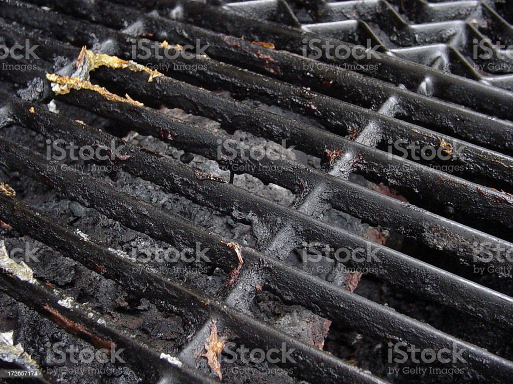 Dirty Grill stock photo