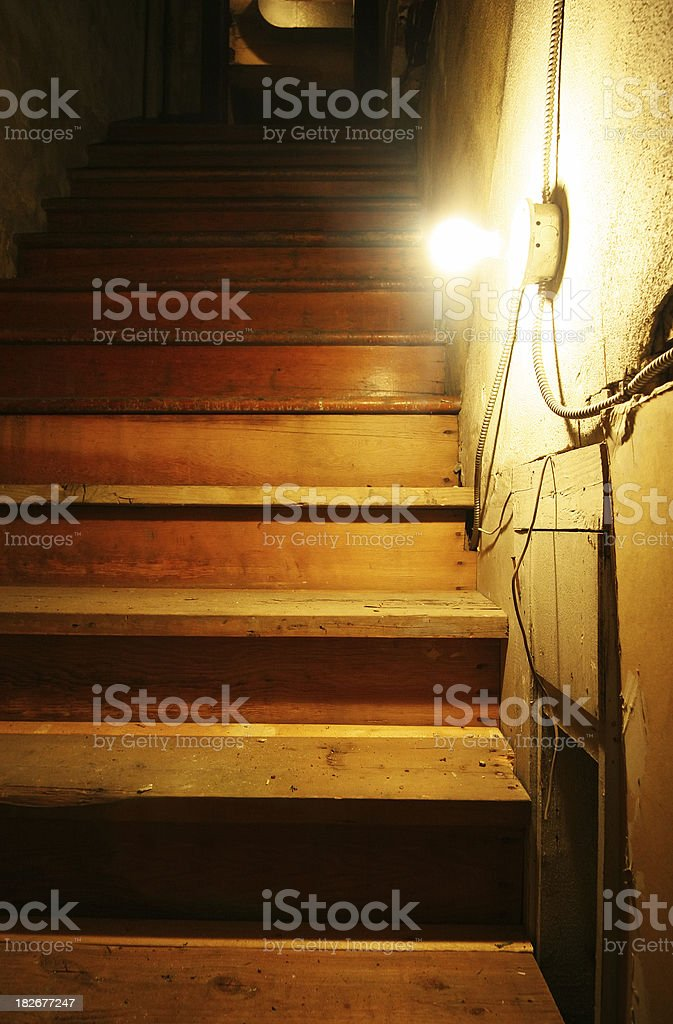 Dirty Grungy Stairs royalty-free stock photo
