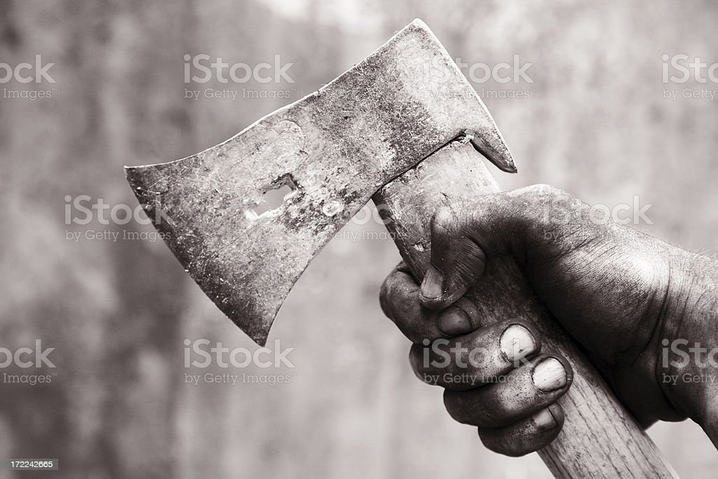 Dirty hand royalty-free stock photo