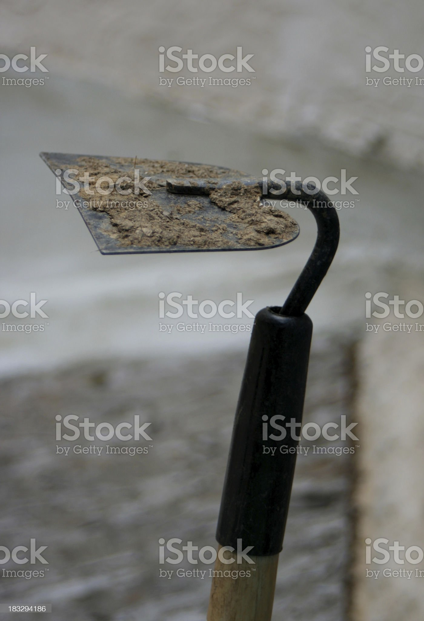 Dirty Hoe royalty-free stock photo