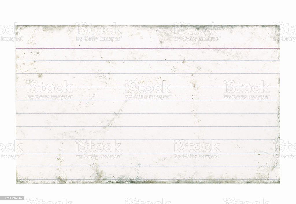 Dirty Index Card stock photo