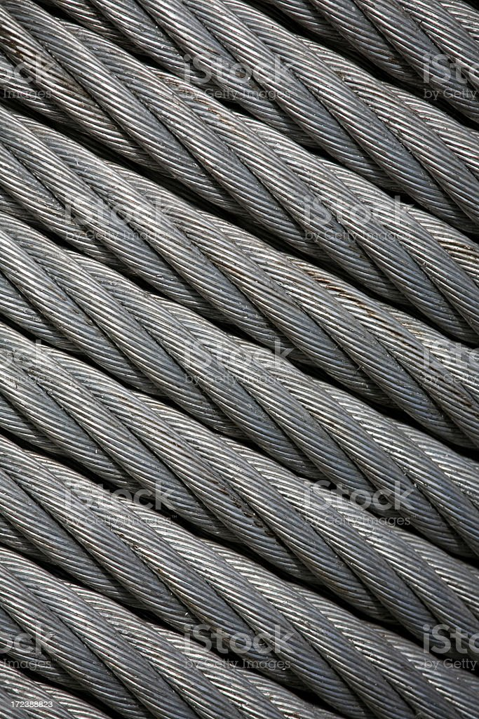Dirty industrial metal cable royalty-free stock photo