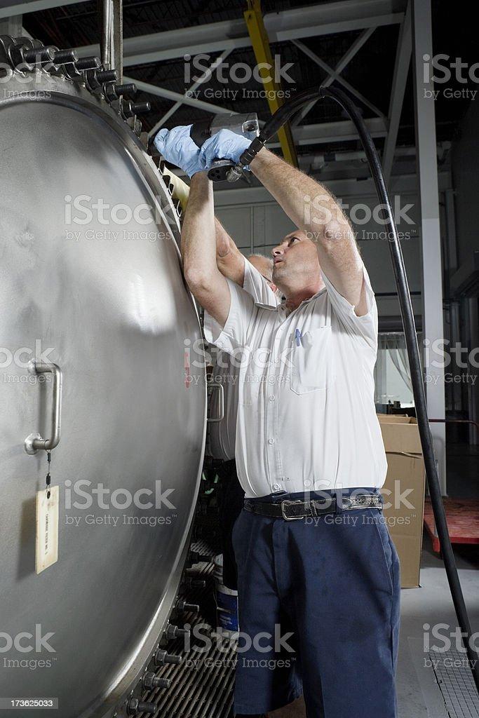 Dirty Job royalty-free stock photo
