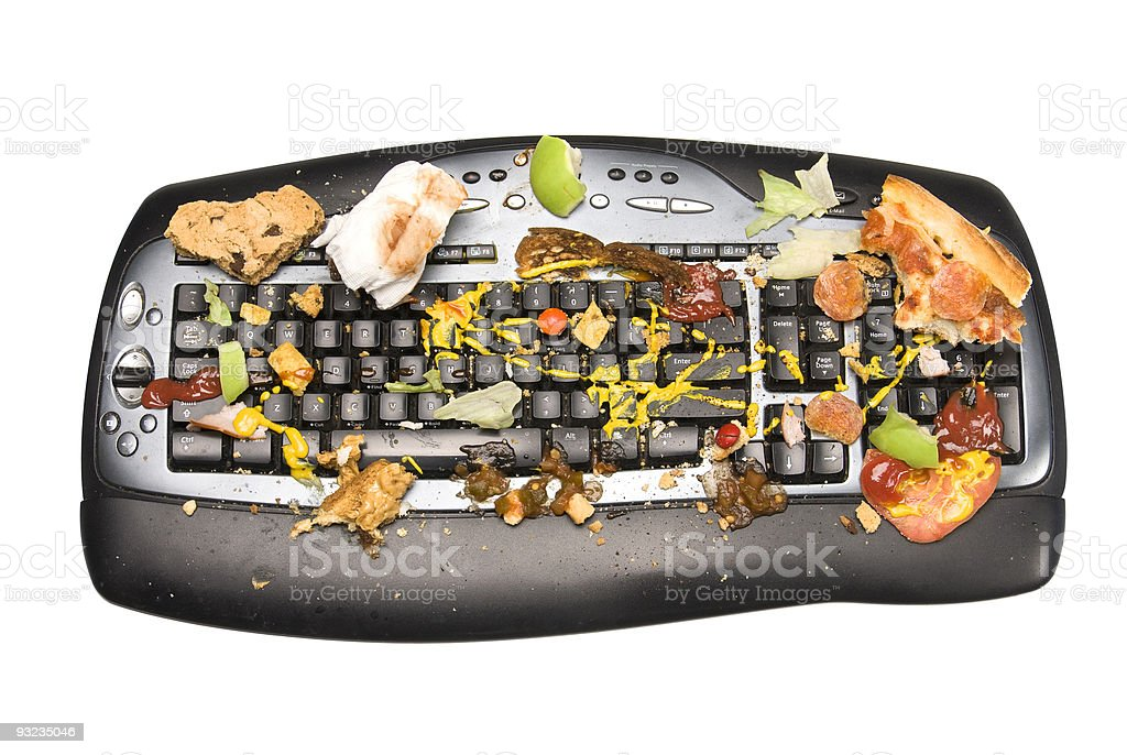Dirty keyboard royalty-free stock photo