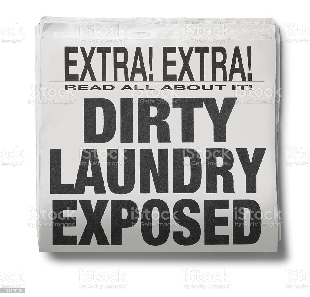 Dirty LAundry Exposed royalty-free stock photo