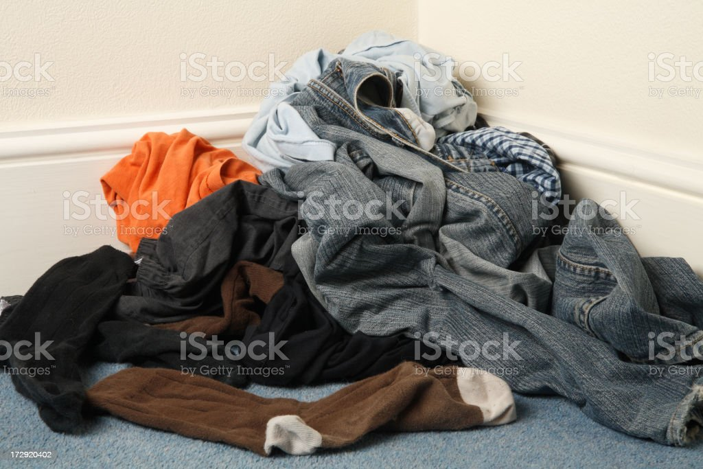 Dirty laundry royalty-free stock photo
