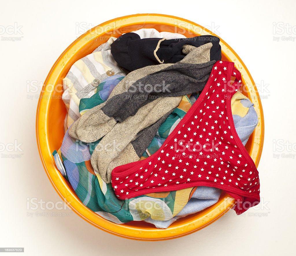 Dirty laundry. stock photo