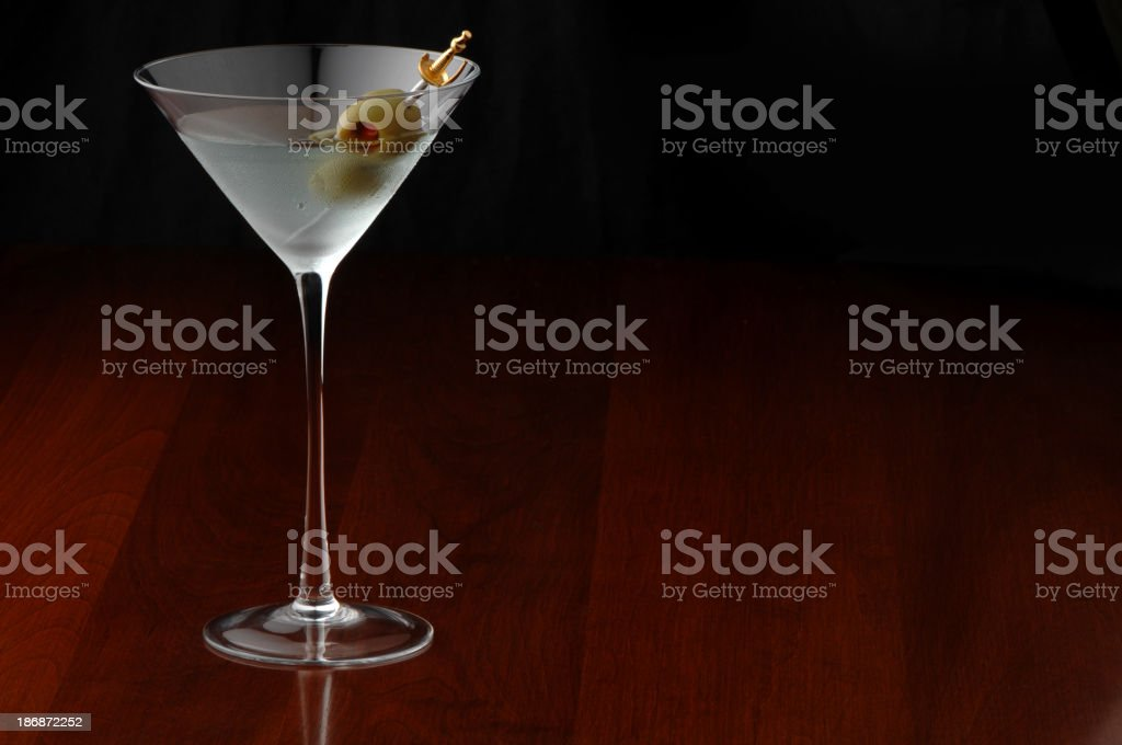 Dirty Martini with olives royalty-free stock photo