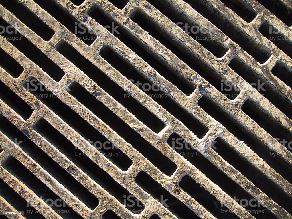 Dirty metal grate royalty-free stock photo
