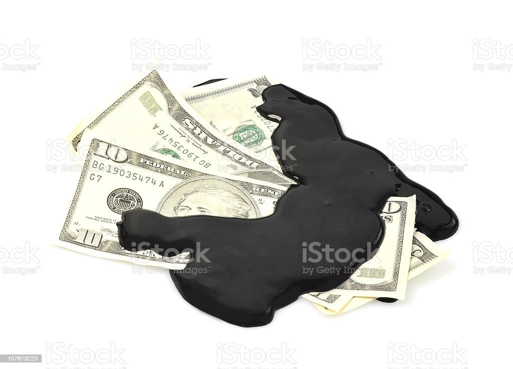 dirty money - dreckiges Geld stock photo
