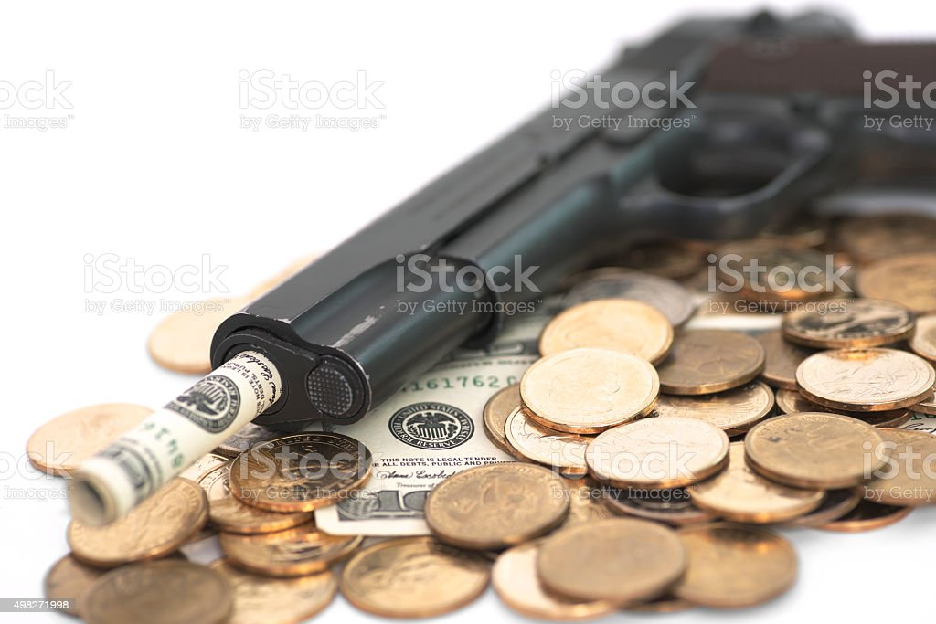 Dirty money stock photo