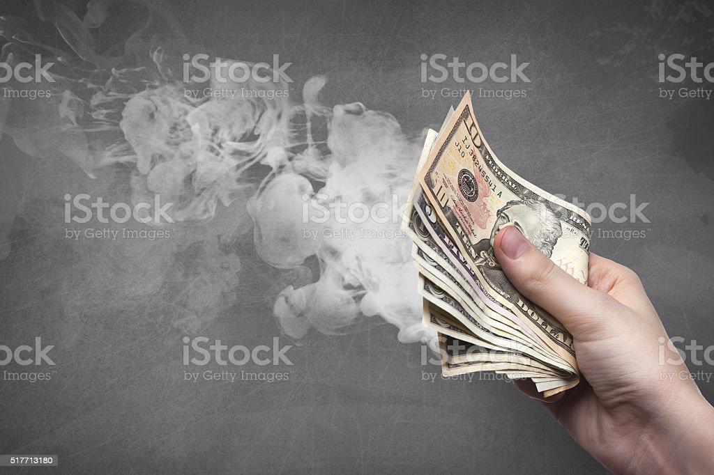 dirty money stock photo