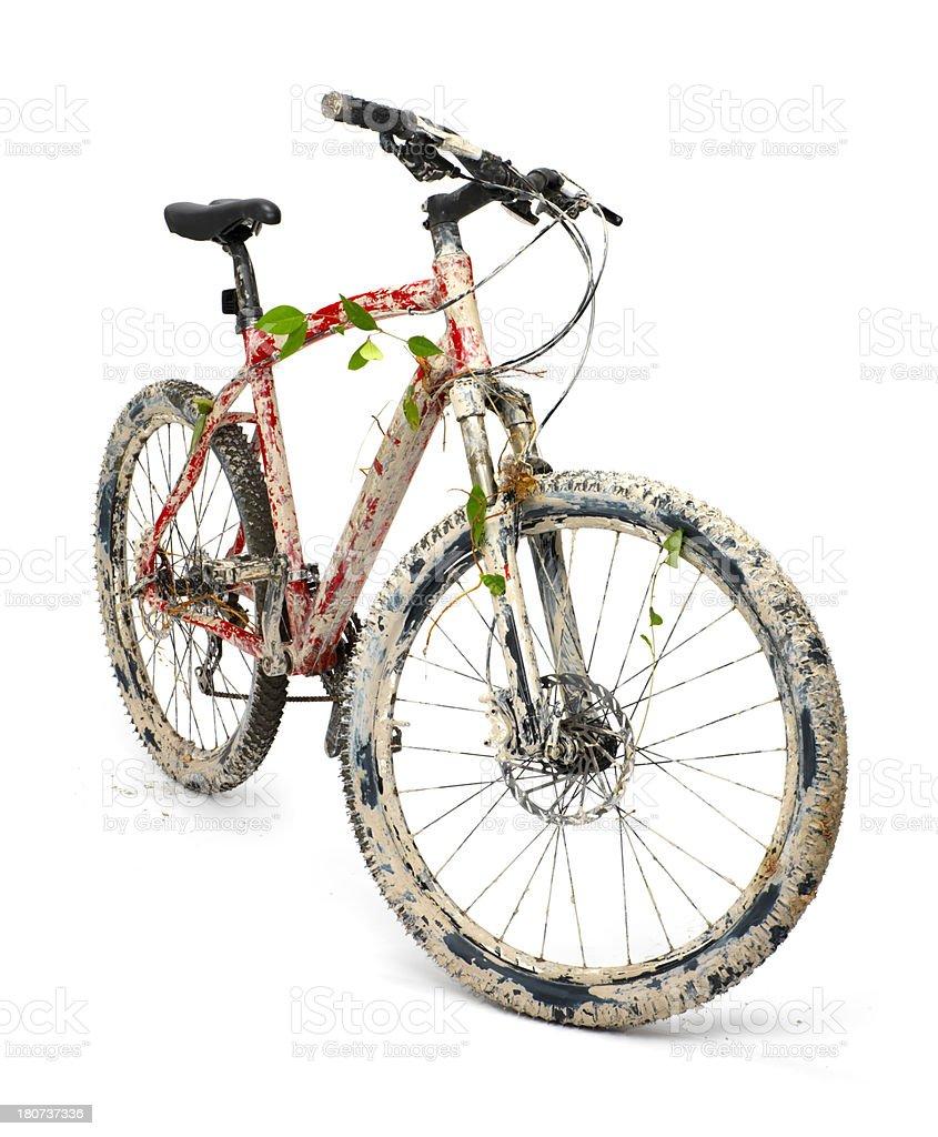 Dirty Mountain Bike royalty-free stock photo
