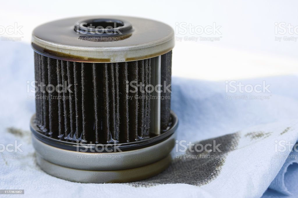 Dirty Oil Filter royalty-free stock photo
