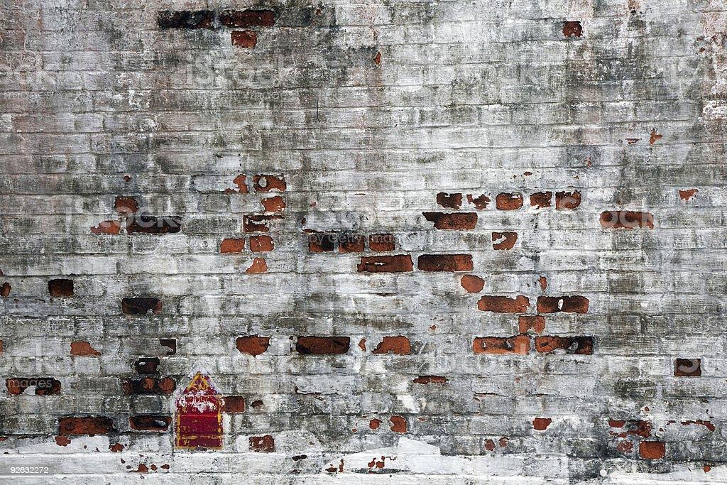 Dirty vieja pared de ladrillos foto de stock libre de derechos