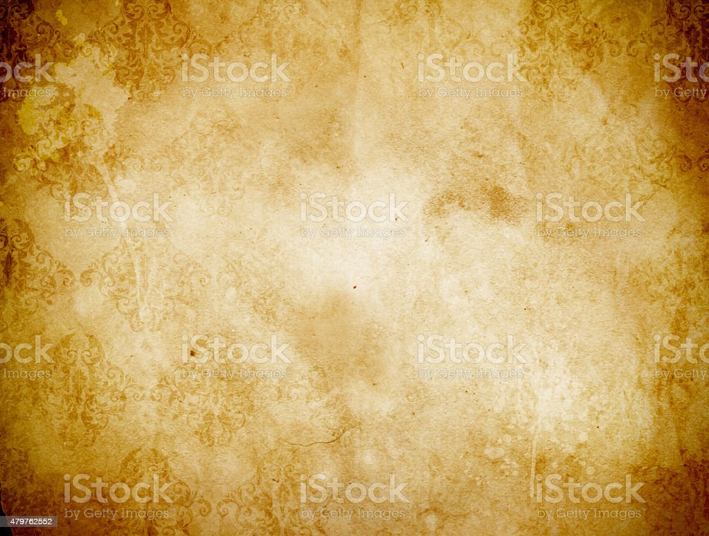 Dirty old paper background. stock photo