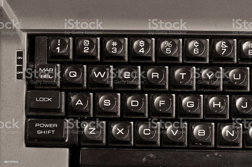 Sale vieille machine à écrire photo libre de droits