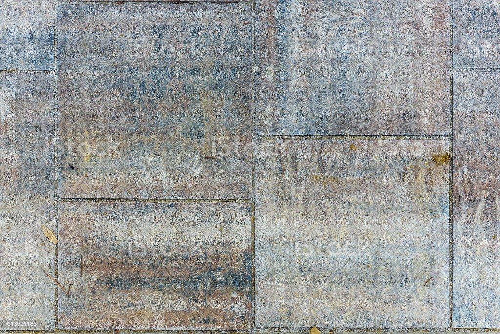 Dirty Outside Terrace Tiles concrete slabs. stock photo