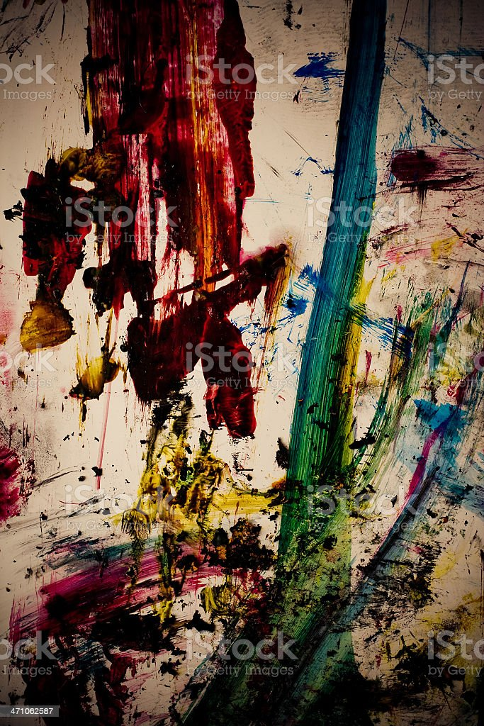 Dirty paint Color strokes royalty-free stock photo